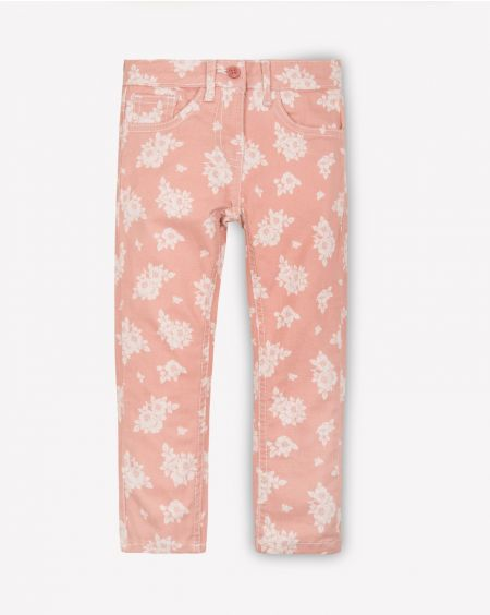 Floral Twill Pants