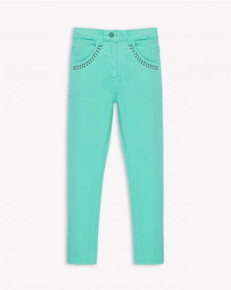 Aqua Green Jegging Jeans